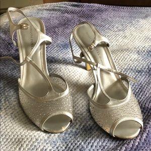 Peep toe rhinestone heels size 11